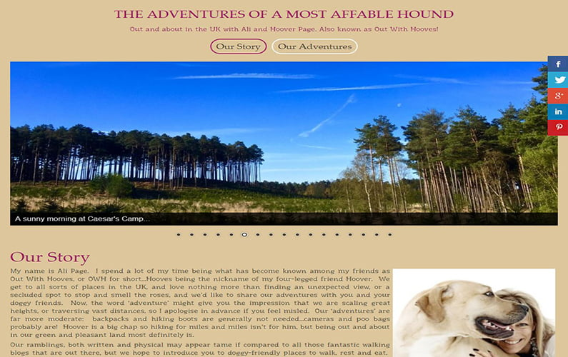 Adventures of a Most Affable Hound Website