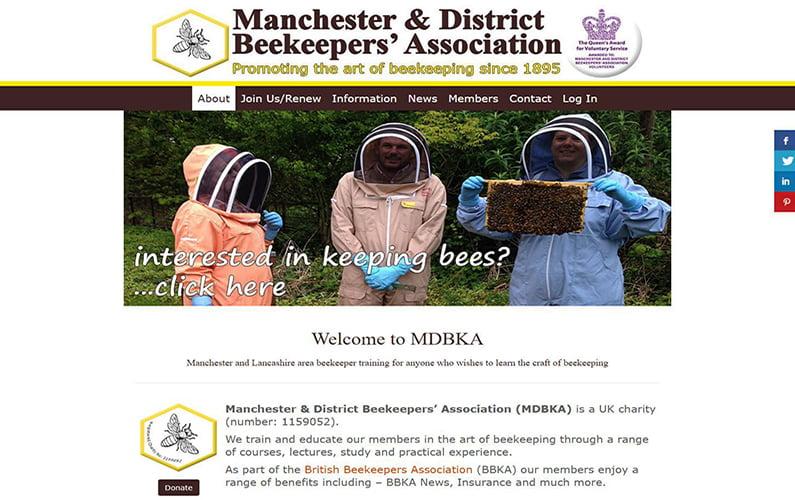 Manchester & District Beekeepers' Association Website