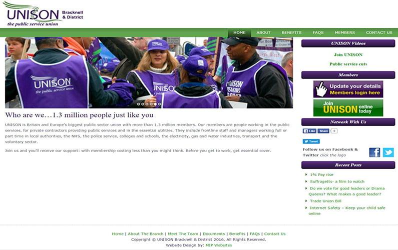UNISON Bracknell & District Website